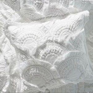 Anthropologie RIVULETS white Cotton Jersey 2 Euro